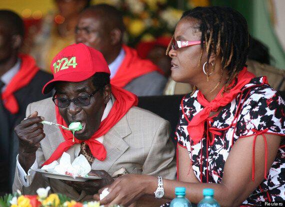 Mugabe Tucks Into Ice Cream In Lavish Birthday
