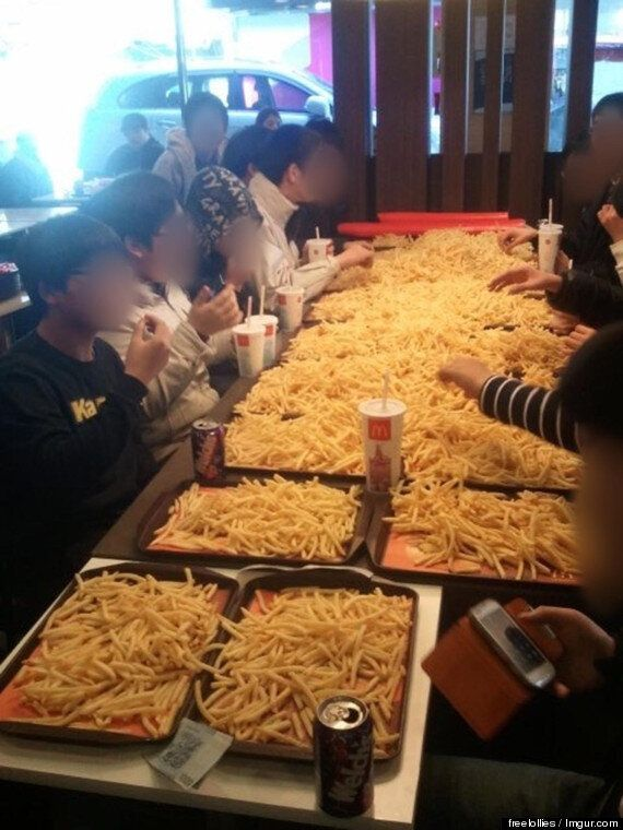 South Korean Children Get Kicked Out Of McDonald's For Ordering £165 Of French Fries