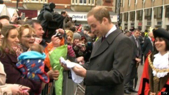Royal Pregnancy? Prince William Accepts Baby-Gro During Tour Of Cambridge With Kate