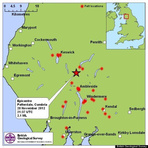 Cumbria Earthquake Shakes Lake District Residents With 2.1 Magnitude