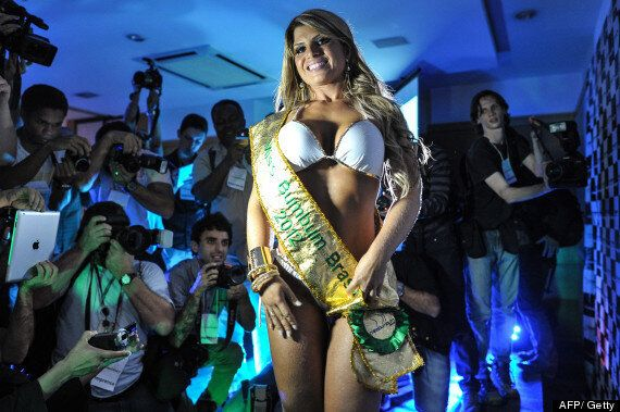 Carine Felizardo Crowned Top Buttocks Of Brazil In Miss BumBum Pageant