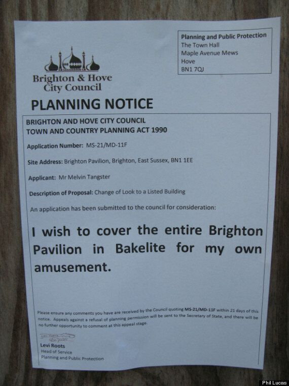 Fake Planning Notices In Brighton Are Our New Favourite Thing