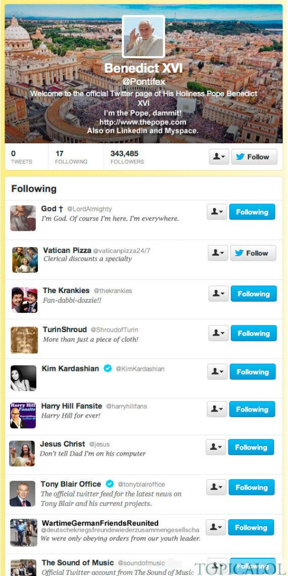 The Pope On Twitter: See Who He's Following Now