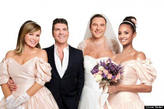 Simon Cowell 'Weds' David Walliams For Comic Relief