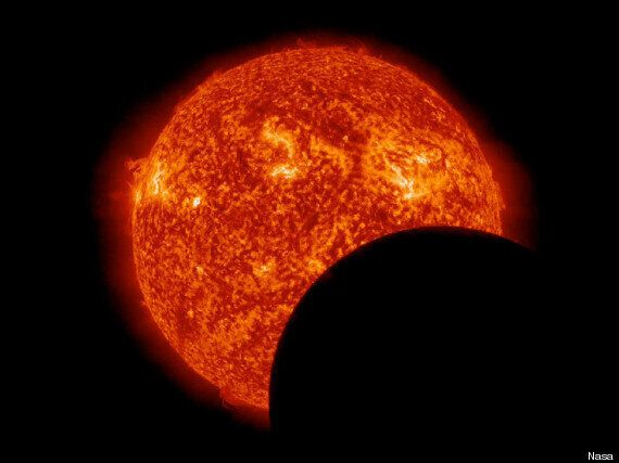 Nasa's Solar Dynamics Observatory Pictures Lunar Transit In Amazing Detail