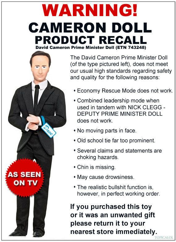 David Cameron Doll Product