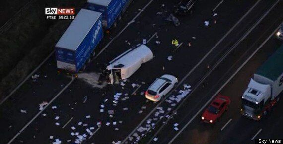M6 Crash: One Killed And 10 Injured Near Junction 16 In Cheshire