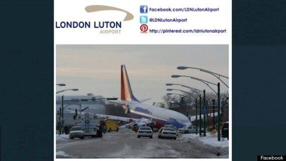 Luton Airport Apologises For Plane Crash Photo On Facebook
