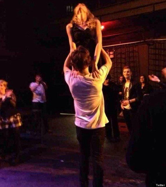 Harry Styles And Taylor Swift Recreate Iconic 'Dirty Dancing' Lift