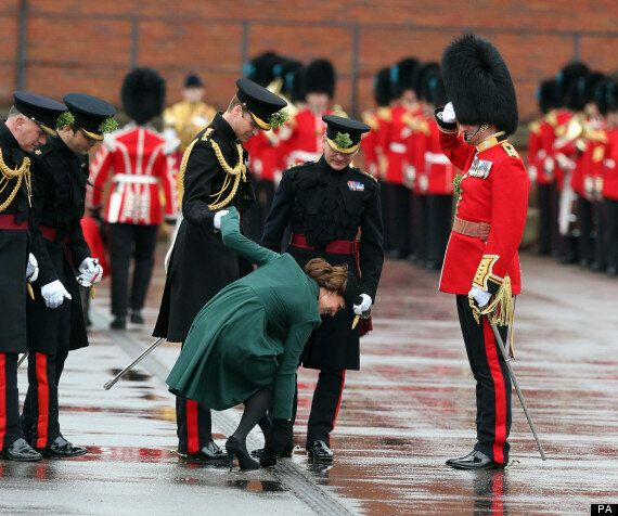 Kate Middleton And Prince William Attend St Patrick's Day Military