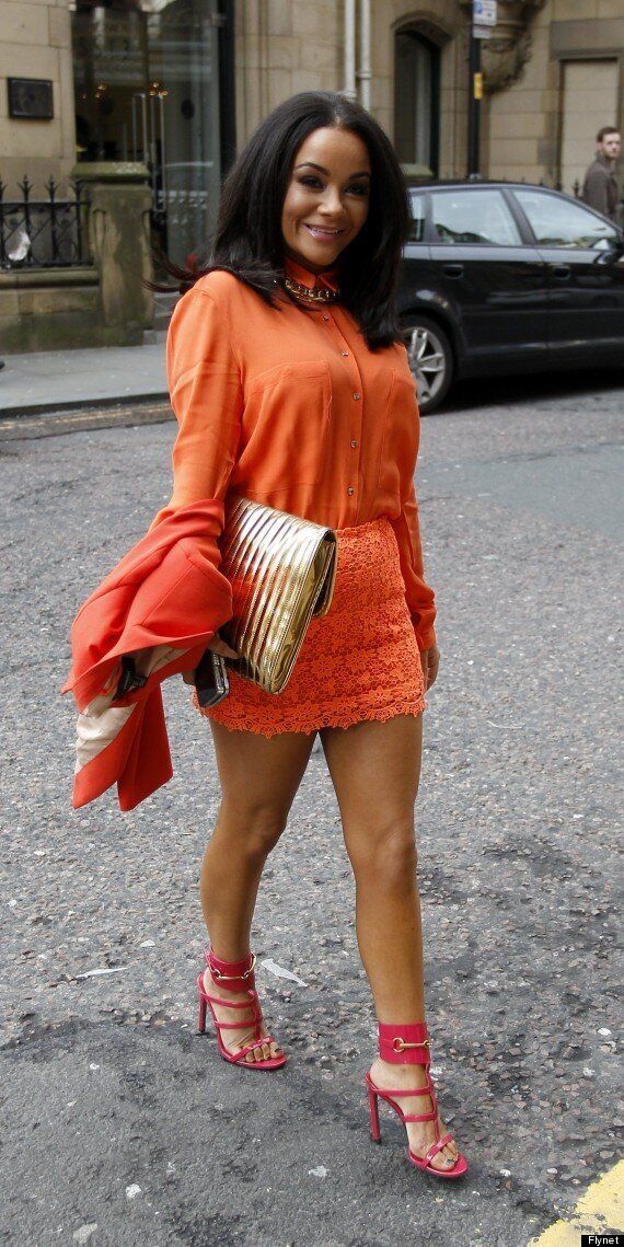 Chelsee Healey Matches Her Outfit To Her Skin Tone In Orange Ensemble For Brunch Party