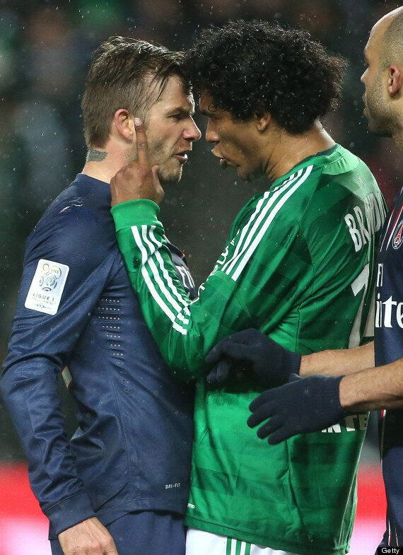 David Beckham Gets Into A Scrap With Brandão As PSG Draw In St Etienne