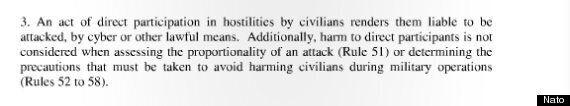 Nato Cyber Warfare Manual: Civilian Hackers 'Legitimate Targets' For Conventional Attacks In