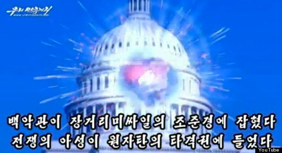 North Korea Propaganda Video Shows US White House In Crosshairs Then Capitol Building Being Blown