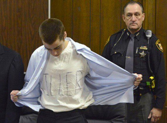 T J Lane Wears T-Shirt Saying 'Killer' At Sentencing For Chardon High School Shooting
