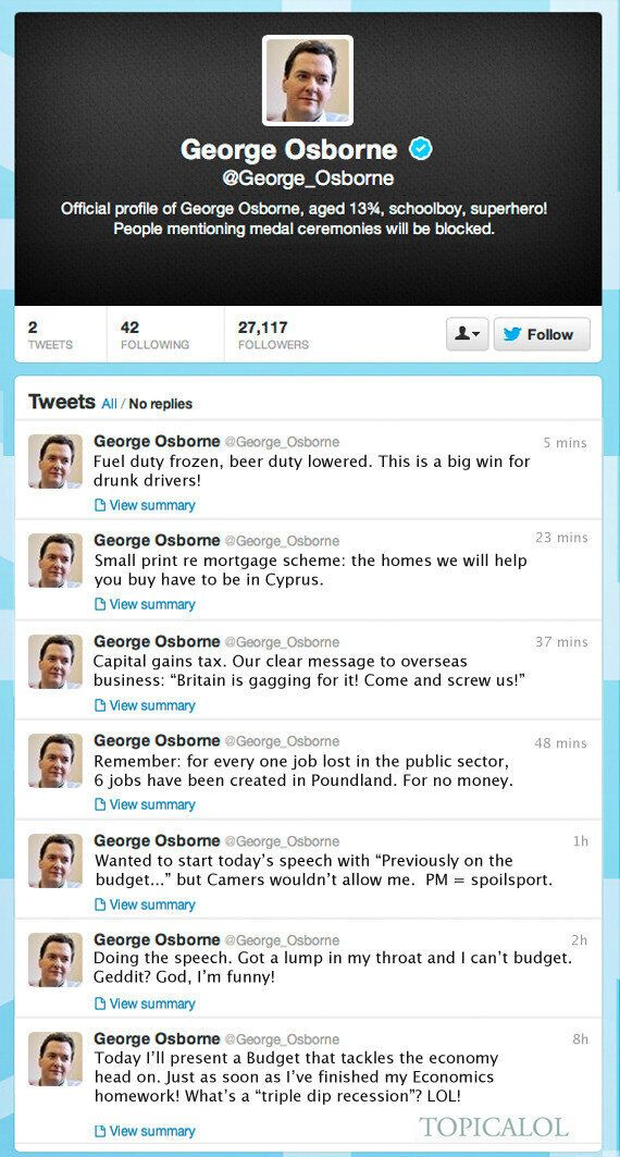 George Osborne Joins Twitter: Read His Pre- And Post-Budget