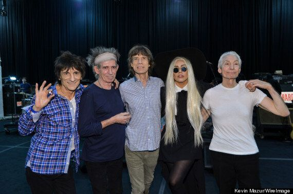 Lady Gaga Joins The Rolling Stones On Stage In New Jersey
