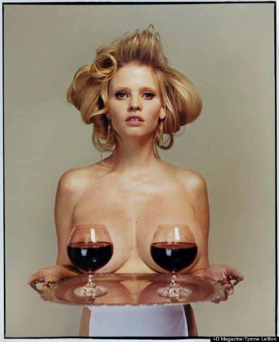 Lara Stone Naked: David Walliams' Model Wife Poses Topless For i-D Magazine