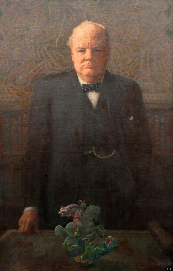 Winston Churchill Portrait From 1946 To Be