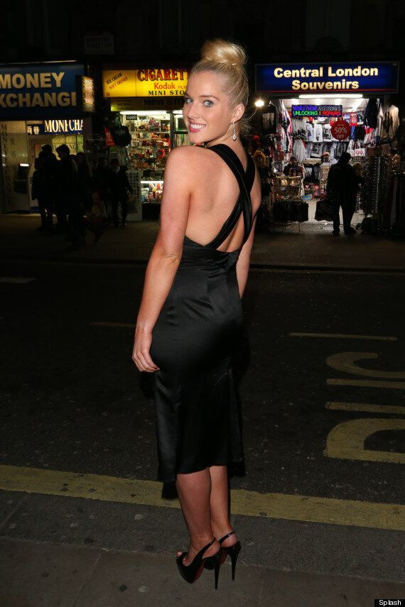 Helen Flanagan Braves The Cold In Revealing Dress At Chortle Awards