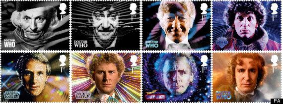 Doctor Who 50th Anniversary Stamps Get Record-Breaking Demand - Stamps Showing Matt Smith, David Tennant...