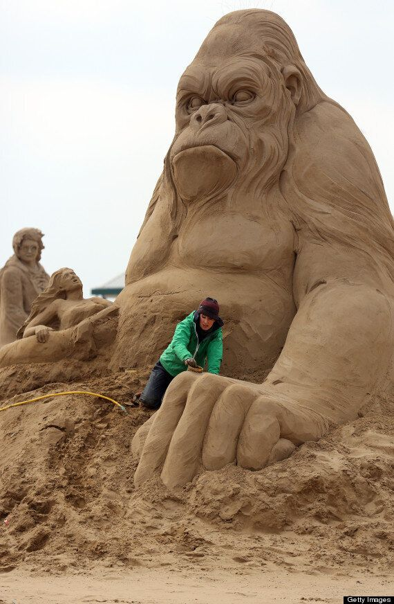 Sand Sculptures At Weston Super Mare 2013: Grainy Gollum, Marilyn Monroe And Harry Potter At The Beach
