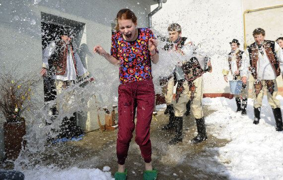 Slovakian Easter Tradition Sees Women Covered In Cold Water And Whacked With Sticks