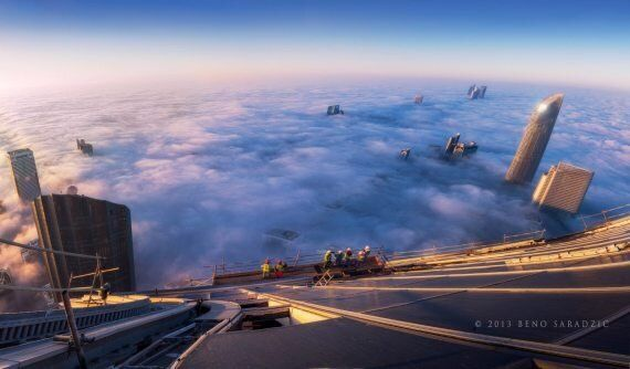 Incredible Photo Of Cloud Covered Abu Dhabi From Trust