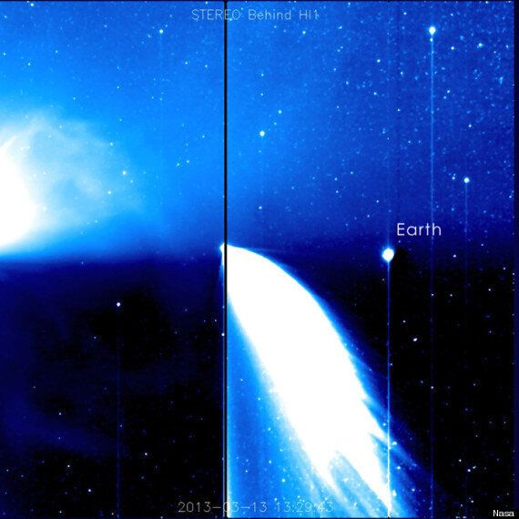 Earth And Comet Pan-Starrs Pictured From 100 Million Miles Away