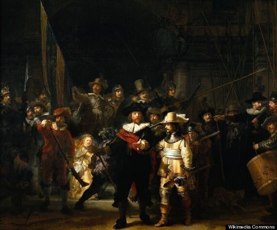 Rembrandt's 'The Night Watch' Recreated In The World's Most Cultured Flashmob