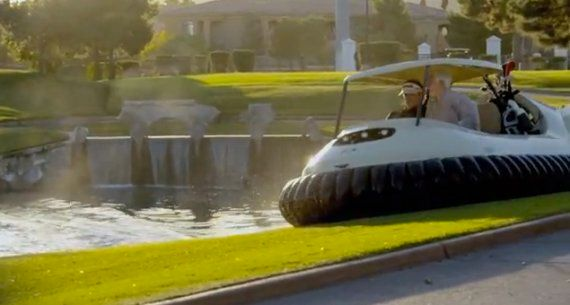 Bubba Watson Unveils Hovercraft Golf Buggy