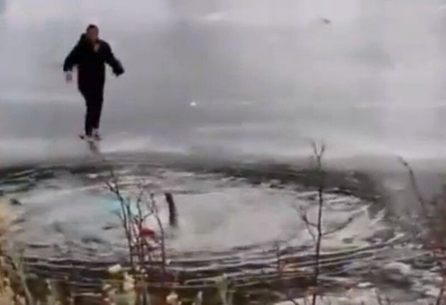 Frozen Lake Jackson Rescue Goes Wrong In California As Helpers Fall Into Icy Depths