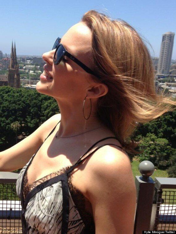 Kylie Minogue Debuts Shorter Hairstyle After Ringing In The New Year In Sydney