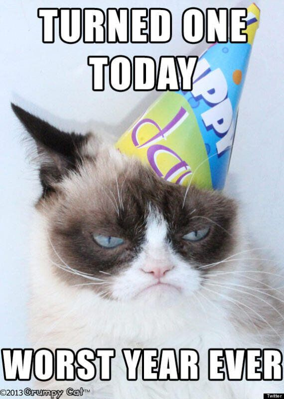Surprising Happy Birthday Grumpy Cat Pictures Huffpost Uk Funny Birthday Cards Online Inifofree Goldxyz