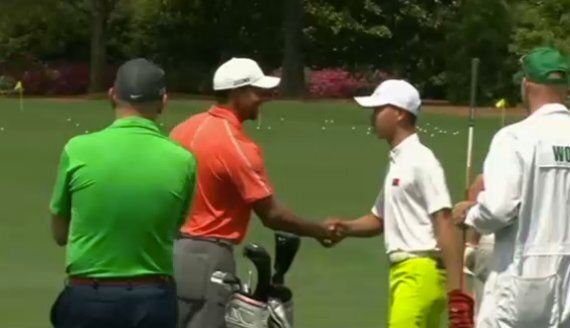 Tiger Woods Tees Off With 14-Year-Old Guan Tianglang At Augusta Ahead Of US