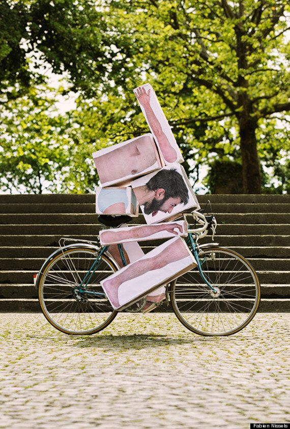 'Block Man' Photos By Fabien Nissels Will Make Your Day