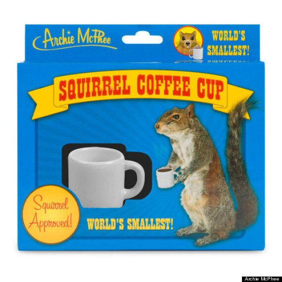 GIF Of The Day: A Squirrel Using A Tiny Coffee