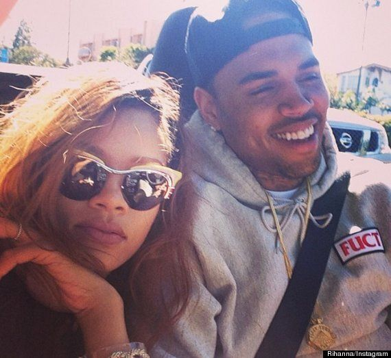 Rihanna And Chris Brown Rubbish Split Rumours Posting Instagram Picture