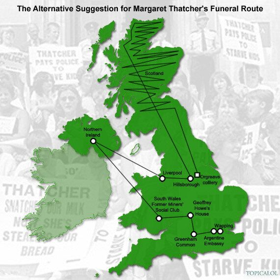 Margaret Thatcher's Funeral: Alternative Route