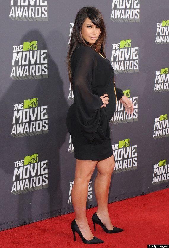 MTV Movie Awards 2013: Kim Kardashian Socks It To Maternity Wear Critics With Style Win On Red