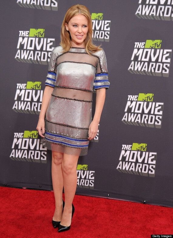 Kylie Minogue Makes A Wrinkle Free Appearance At MTV Movie Awards As She Teases New
