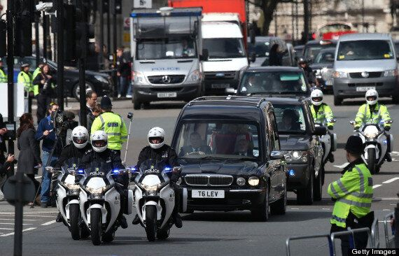Margaret Thatcher Funeral: Coffin Arrives At