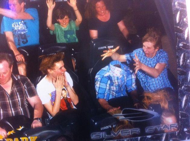 'Headless' Man Photographed On Theme Park Ride