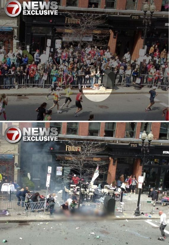 Boston Marathon Bombings: Is This The Second Device Just Before It Exploded?