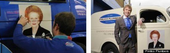 Plumbers Firm Decorates Its Fleet With Margaret Thatcher's Face
