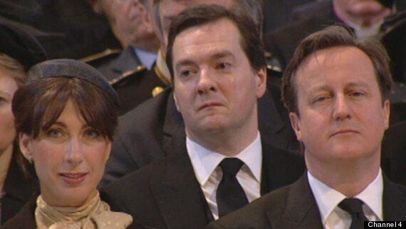 Margaret Thatcher Funeral: George Osborne Wipes Away Tear During Service