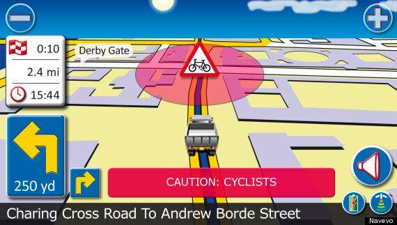 Navevo SatNav Alerts Lorry Drivers When Approaching Cycling Black