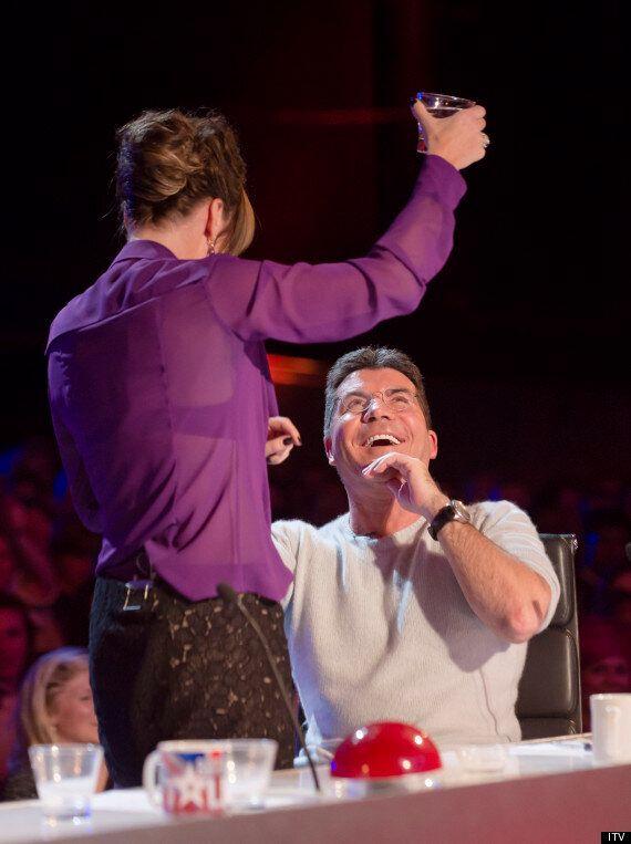 Britain's Got Talent Judge Amanda Holden Soaks Simon Cowell
