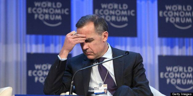 Mark J. Carney, then governor of the central bank of Canada, pauses during a session on the final day...
