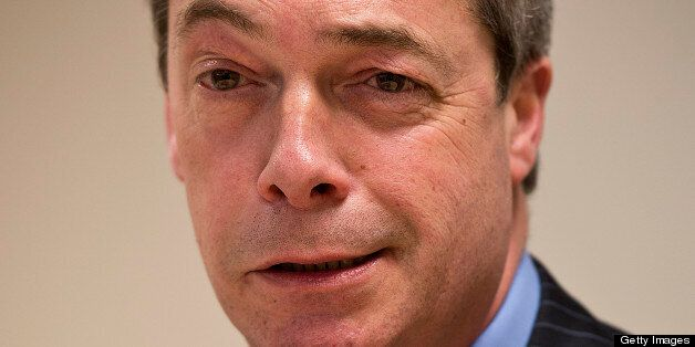 UK Independent Party (UKIP) leader Nigel Farage speaks during a press conference following their second...
